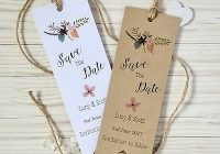 rustic save the date bookmarks cards with envelopes wedding invitations ebay Bookmark Wedding Invitations