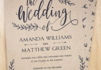 rustic wedding invitation template leaf design Wedding Invitation Templets
