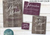 rustic wedding invitations any color rustic plum Rustic Purple Wedding Invitations