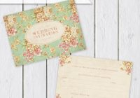 sale price ready to write wedding invitations pack of 25 vintage floral Wedding Invitations Price