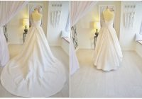 satin and lace save your train add a bustle Bustling A Wedding Dress