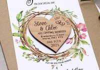 save the date cards wooden wedding magnets rustic wreath fridge heart magnet ebay Wedding Invite Magnets