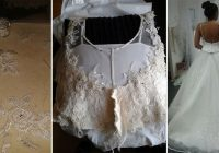see how one bride transformed a thrift store wedding dress Thrift Store Wedding Dresses
