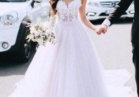 sexy spaghetti straps tulle appliques wedding dresses pretty bridal gowns Prettyco Wedding Dress