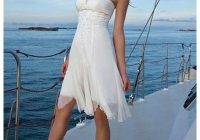short beach style gown simple elegant just lovely in Informal Beach Wedding Dresses Casual
