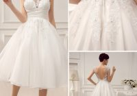 short beaded wedding dress with lace paneled milanoo Milanoo Wedding Dress