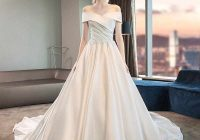 simple a line stain wedding dress 2021 short sleeve long train wedding dresses plus size corset wedding gowns real photos Plus Size Undergarments For Wedding Dresses