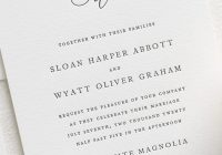 simple wedding invitation wording ideas to guide you Invitation Wording For Weddings