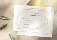 simple wedding invitations that will make you a minimalist His And Hers Wedding Invitations