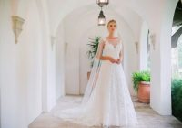 sleeveless illusion neckline a line wedding dress with lace Michelle Roth Wedding Dresses