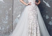 sleeveless v neck fully lace mermaid wedding dress Red Wedding Dresses Kleinfeld