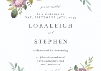 soft floral wedding invitation template free floral Printable Wedding Invite