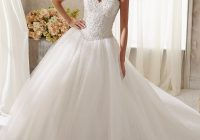 sparkling crystal beading on tulle wedding dress morilee Mori Lee Blu Wedding Dresses