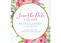 spring floral flowers country wedding save date card Wedding Invitations Save The Date