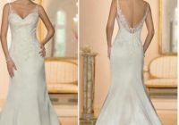 stella york lace satin low back wedding gown Wedding Dresses With Low Backs
