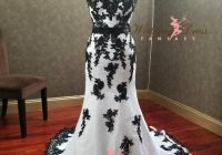 stunning black and white gothic wedding dress with sweetheart neckline unique wedding dress alternative bridal gown with corset Black And White Gothic Wedding Dresses