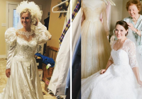 stunning brides who wore their moms wedding dresses 22 words Wedding Dress Redesign