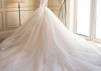 stunning wedding dresses 2020 ball gown lace appliques embroidered scoop neck 34 sleeve royal train wedding Prettiest Wedding Dresses Ever