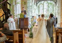 the bride wore emilia wickstead to her english wedding at an Plum Sykes Wedding Dress