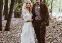 this enchanting forest elopement is brimming with edgy Elopement Wedding Dresses