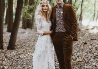 this enchanting forest elopement is brimming with edgy Enchanted Forest Wedding Dress