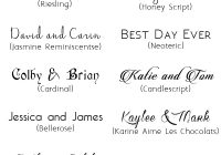 top 20 free fancy fonts for diy wedding invitationsupdated Font Styles For Wedding Invitations