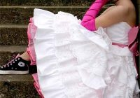 top 45 tea length wedding dress with color on pinterest Colored Petticoats For Wedding Dresses