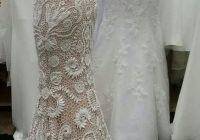 unique irish crochet wedding dress custom made laiminga Irish Crochet Wedding Dress Pattern