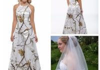 us 11475 55 offbeautiful a line camo wedding dress white real tree camouflage bridal gowns criss cross back long hunting with veil cheapbridal Camouflage Wedding Dresses Pretty