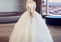 us 1168 35 offluxury princess wedding dress plus size ruffles off shoulder wedding gowns 2021 corset simple satin wedding dress elegant in wedding Plus Size Undergarments For Wedding Dresses