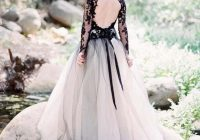 us 1295 30 offblack lace and white tulle wedding dresses sexy v neck backless illusion long sleeves gothic bridal gowns in wedding dresses from Black And White Gothic Wedding Dresses