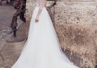 us 3638 15 off2020 fairy tale wedding dresses one shoulder asymmetric long sleeves bridal gown dot lace tulle skirt wedding dress court tail in Fairy Tail Wedding Dresses