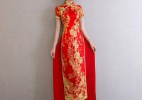 us 5323 26 offvestido oriental style dresses traditional vietnam embroidery cheongsam ao dai dress women fashion qipao wedding long red gown in Ao Dai Wedding Dress
