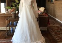 vintage 60s dotted swiss long sleeve wedding gown Dotted Swiss Wedding Dress