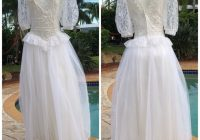 vintage gunne sax white frilly wedding dress 5 xs Gunne Sax Wedding Dresses