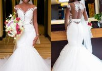 vintage lace mermaid wedding dresses long african dubai gorgeous bridal gowns with pearls beading open back formal wedding gowns bride wedding dress Dhgates Wedding Dresses