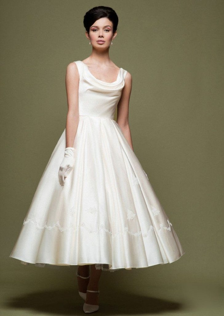 Permalink to Pretty 50s Tea Length Wedding Dress Ideas