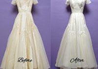 vintage wedding dresses can be whitened and made beautiful Wedding Dress Restoration Pretty