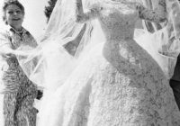 vintage wedding gown with princess veil vintage wedding Brigitte Bardot Wedding Dress