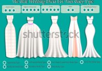 wedding dress body type wedding dress stock vector royalty Wedding Dress Styles For Body Shapes