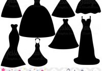 wedding dress clipart silhouette clipart for greeting Wedding Dress Clipart