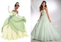 wedding dress inspiration fit for a disney princess tying Princess Tiana Wedding Dress