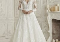 wedding dress with impressive illusion bodice elema pronovias Pronovias Wedding Dress