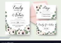 wedding invitation floral rsvp thank you card set Wedding Invitation And Rsvp Packages