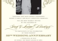 wedding invitations for a 50th wedding anniversary 50th 50th Golden Wedding Anniversary Invitations