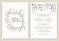 wedding invitations save the date card with elegant garden Wedding Invitations Save The Date