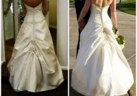 which bustle style should you choose the white room French Bustle Wedding Dress