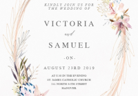 whimsical wreath wedding invitation template greetings Printable Wedding Invite