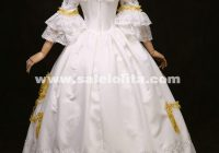 white lace marie antoinette dress 17th 18th century wedding 18th Century Wedding Dresses