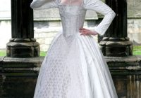 white silk elizabethan wedding gown with 3500 crystals Elizabethan Wedding Dresses